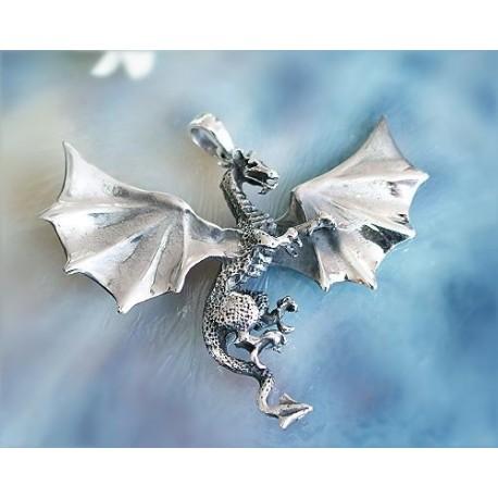 Drachen / Mystik - Anhänger Drache Silber-925  (SH08)