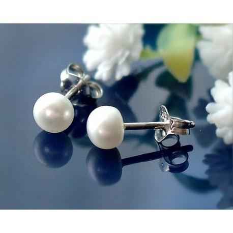 Perlen - Perlen-Ohrstecker Silber-925  (SB56)