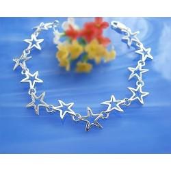 Silberschmuck Armband Sterne Silber 925  SA16-18