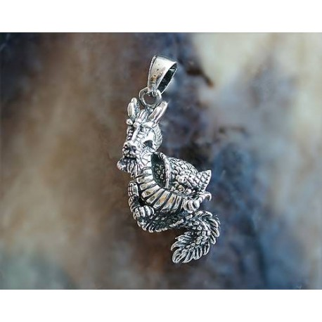 Drachen / Mystik - Anhänger Drache Silber-925  (SH02)