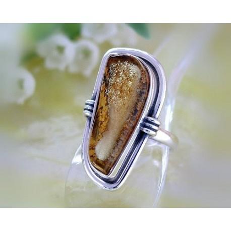 Bernsteinschmuck - Bernstein-Ring Silber-925  17 mm (BK93)