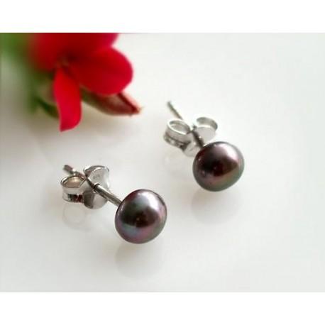 Perlen - Perlen-Ohrstecker Silber-925  (SB57)