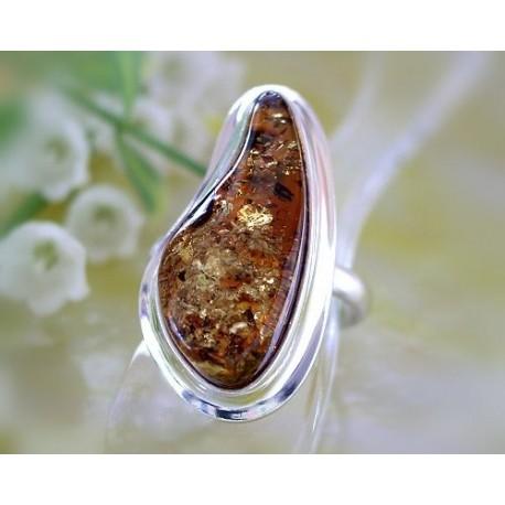Bernsteinschmuck - Bernstein-Ring Silber-925 21,5 mm (BK82)