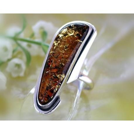 Bernsteinschmuck - Bernstein Ring  21 mm Silber 925 BK87a