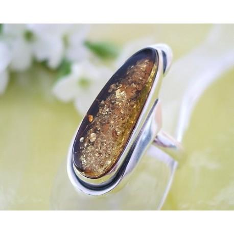 Bernsteinschmuck Bernstein Ring 17 mm Silber 925 BG34a