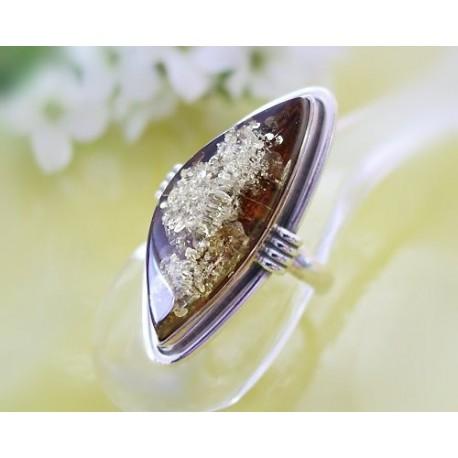 Bernsteinschmuck Bernstein Ring 17 mm Silber 925 BG27a