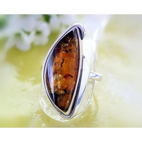 Bernsteinschmuck Bernstein Ring 21 mm Silber 925 BG25a