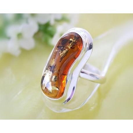 Bernsteinschmuck Bernstein Ring 20 mm Silber 925  BG38a
