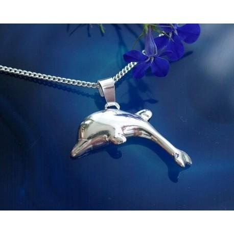 Silberschmuck - Anhänger Delphin Silber-925 (SH72)