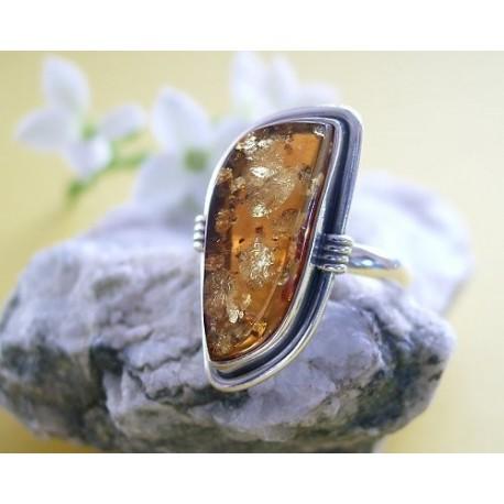 Bernsteinschmuck Bernstein Ring 20,5 mm Silber 925 BG80a