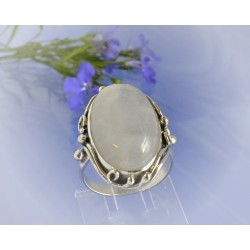 Mondsteinschmuck - Mondsteinring 21mm Silber-925 UNIKAT (MT61)*