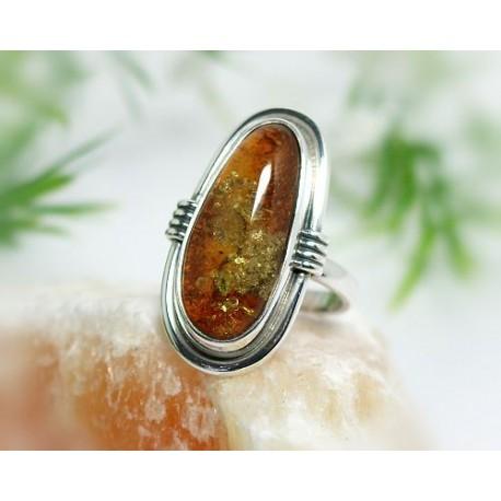 Bernsteinschmuck - Bernstein-Ring 17 mm Silber-925 (BN27)