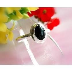 Onyxschmuck - Onyx Ring Silber-925  (SE08)