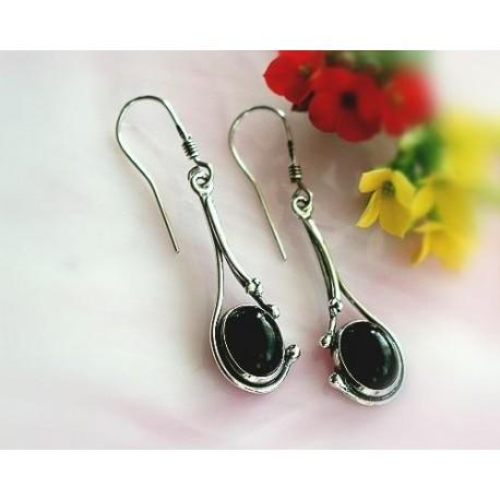 Onyxschmuck - Ohrhänger mit Onyx Silber-925  (SE03)
