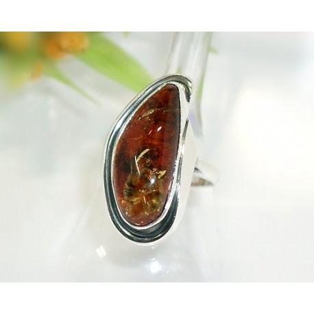 Bernsteinschmuck - Bernstein-Ring 17 mm Silber-925 (BN48)