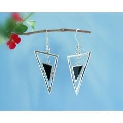 Onyxschmuck - Ohrhänger mit Onyx Silber-925 (SE11)*