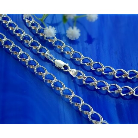 Damenkette  42 cm / 50 cm Silber-925  (KA71)