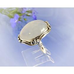 Mondsteinring 21 mm Silber-925 UNIKAT (MT59)