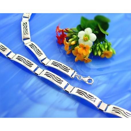 Armband 20 cm / 23 cm Silber-925  (SA38)