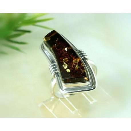 Bernsteinschmuck - Bernstein-Ring 18 mm  Silber-925  CI37A*