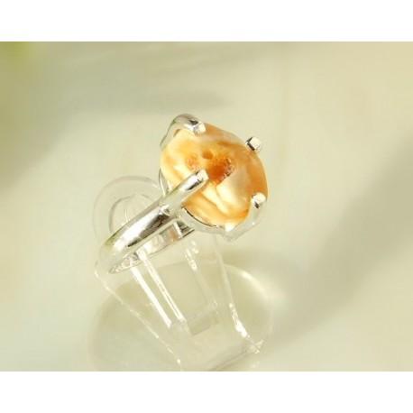Bernsteinschmuck - Bernstein-Ring 16,5 mm  Silber-925  CI99A*