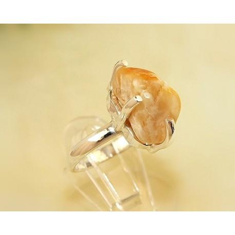 Bernsteinschmuck - Bernstein-Ring 16,5 mm Silber-925 CI11A*