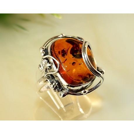 Bernsteinschmuck - Bernstein-Ring 18,5 mm Silber-925 CI18A*