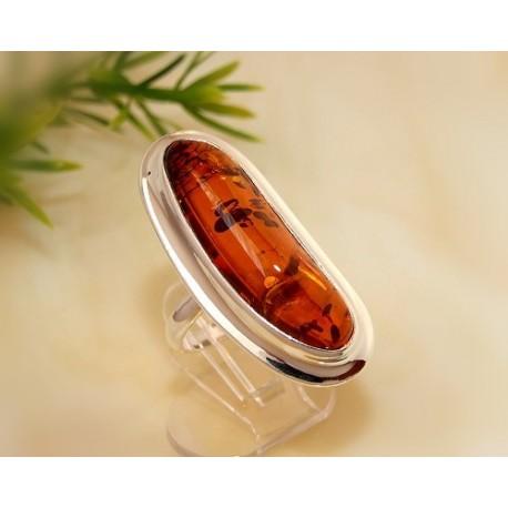Bernsteinschmuck - Bernstein-Ring 19 mm Silber-925 CI59A*
