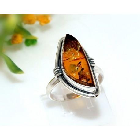 Bernsteinschmuck - Bernstein-Ring 20 mm Silber-925 CJ16A*