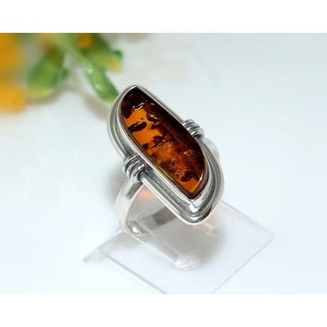 Bernsteinschmuck - Bernstein-Ring 18 mm  Silber-925  CJ47A*