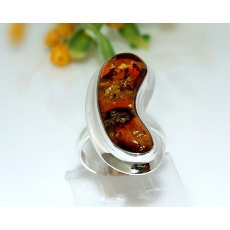 Bernsteinschmuck - Bernstein-Ring 18 mm  Silber-925  CJ48A*