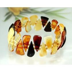 Bernstein Armband mehrfarbig Gummizugband ct53