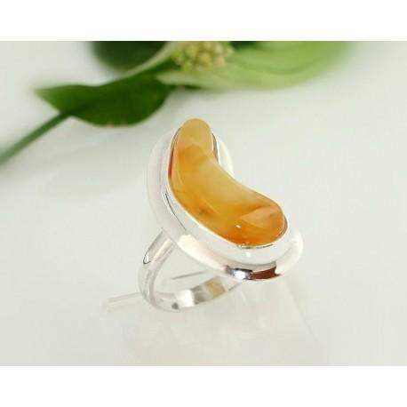 Bernstein-Ring 18 mm  Silber-925  (CJ73)
