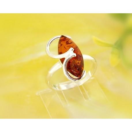 Bernsteinschmuck - Bernstein-Ring 18 mm  Silber-925 (CK70)