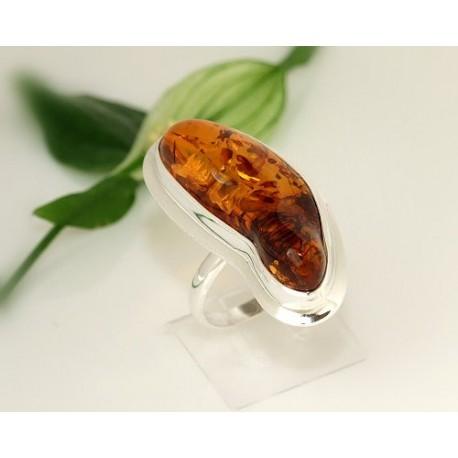 Bernstein Ring 22 mm Silber 925  CK57a