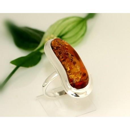 Bernstein Ring 21 mm  Silber 925  CK59a