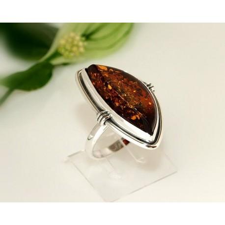 Bernsteinschmuck Bernstein Ring 20 mm  Silber 925 CK62a