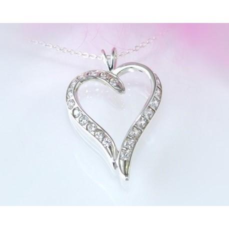 Silberschmuck Herz Anhänger Silber 925 SP68