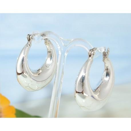 Creolen Silber 925 Ohrringe Silberschmuck SC45