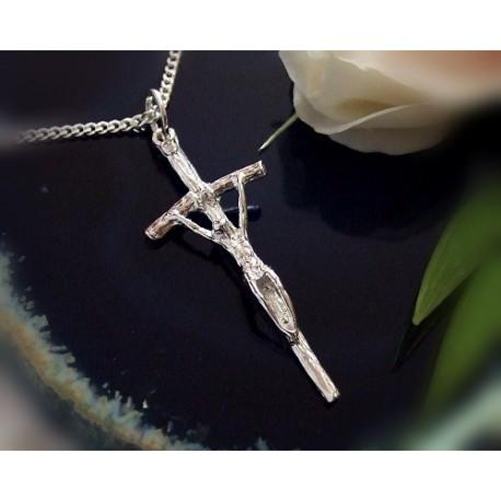 Silberschmuck Kreuzanhänger  Silber 925 ST07