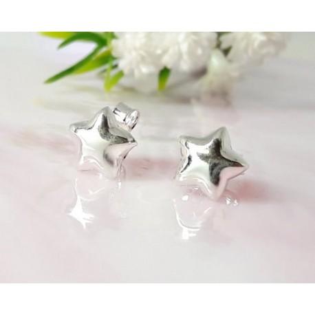 Silberschmuck - Ohrstecker Sterne Silber-925  (SX51)