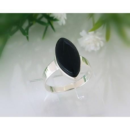 Onyxschmuck - Onyx Ring Silber-925  (SR54)