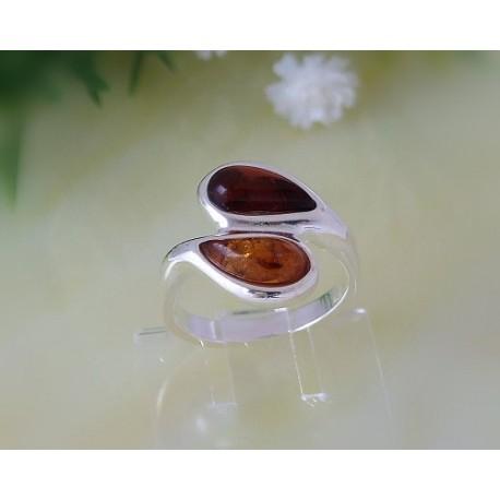 Bernsteinschmuck - Bernstein-Ring  Silber-925  (CZ48)*