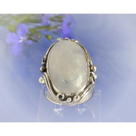 Mondsteinschmuck - Mondsteinring 18mm Silber-925 UNIKAT (MT47)*