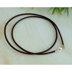 Lederband braun 45 cm / 50 cm / 1,5 mm  (KB35)