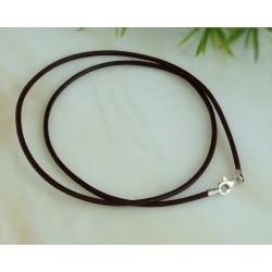 Silberschmuck - Lederband, braun 45 cm / 1,5 mm (KB35)*