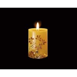 Geschenkartikel - Kerze mit Bernstein (HS60)*