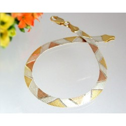 Silberschmuck - Armband-Bicolor 20,5cm Silber 925 (SA83)*
