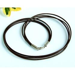3-reihiges Lederband, braun 40 cm/ 3,3 mm (KB74)