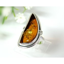 Bernsteinschmuck Bernstein Ring 17,5 mm Silber 925 HD17a